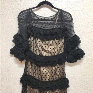 Tracy Reese Anthropologie yarn fringe dress 4 SM